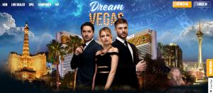 Dream Vegas Casino förstasida.