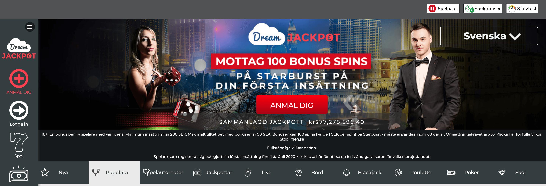 Dream jackpot casino start