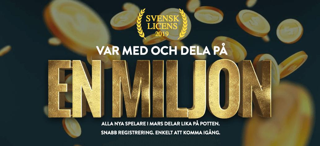 Hos No Account Casino får spelare dela på en miljon kronor
