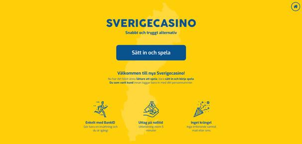 Skärmdump av Sverigecasino