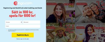 Sidan du möts av på Bingo.com.