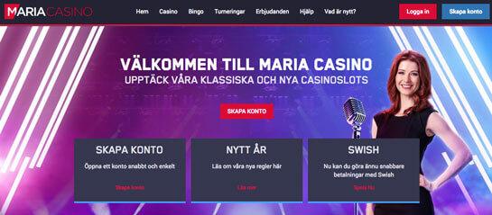 Maria Casino startsida.