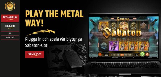 Skärmdump från Metal Casino.