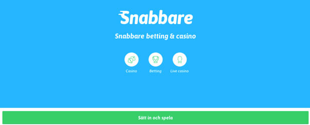 Snabbare Casino framsida
