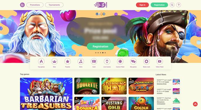 Yoyo casino startsida